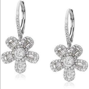 Multicubic flower drop earrings